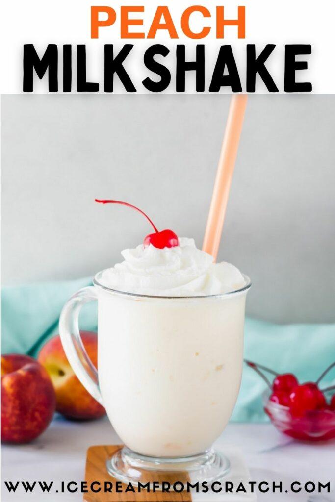 pinterest pin collage for peach milkshake